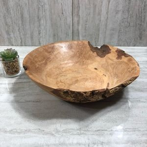 Other - Natural Edge Bark Wooden Bowl